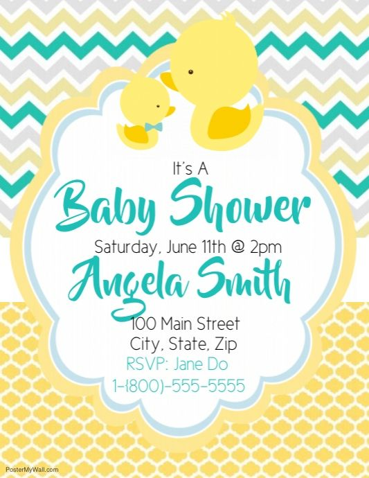 duck baby shower invitation paper supplies party office etc