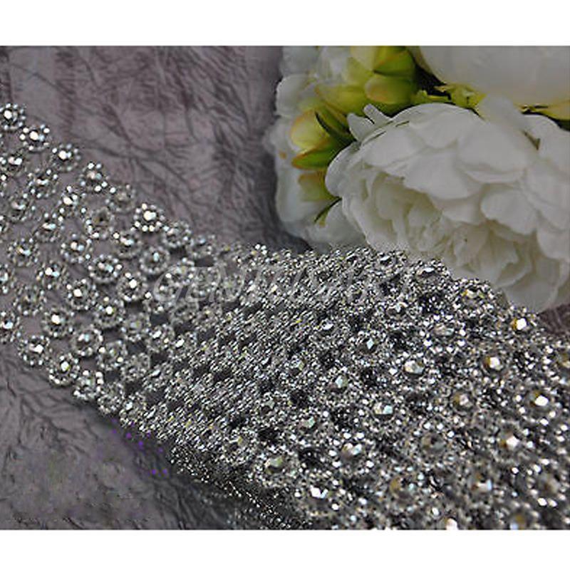 099 gbp diamond rhinestone ribbon bling vase wrap floral wedding diamond rhinestone ribbon bling vase wrap floral wedding decoration supplies ebay home garden junglespirit Gallery