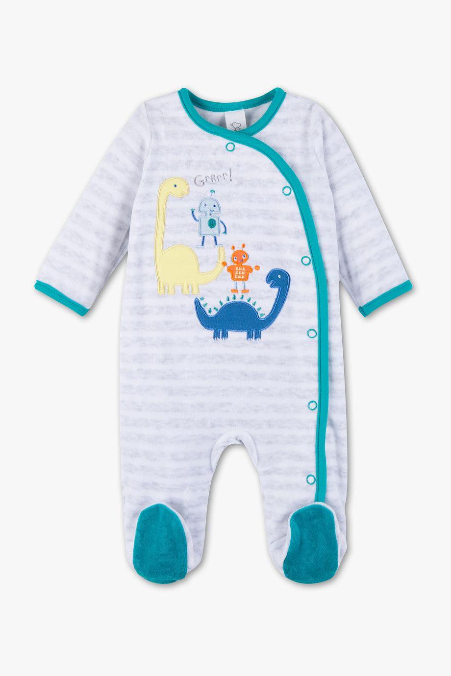 903253aa4eb70 Baby Club Pyjama pour bébé - à rayures | baby dino!! | Pyjama bébé ...