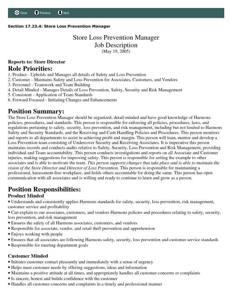 Management Resume Examples Manager Sample Product Order Leave