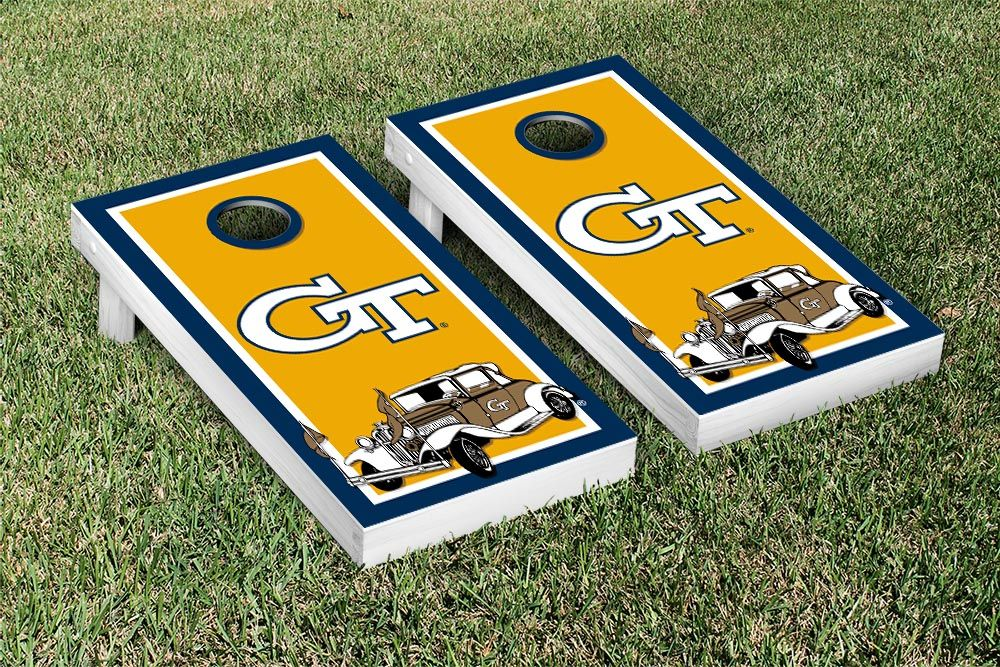 Georgia Tech GT Yellow Jackets Cornhole Game Set Border Version 1