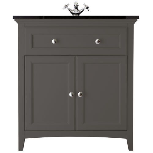 Savoy Charcoal Grey 790 Basin Unit - With Granite Top And Basin