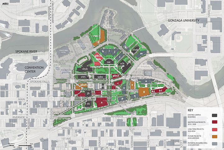Washington State University Spokane Nbbj Master Planning