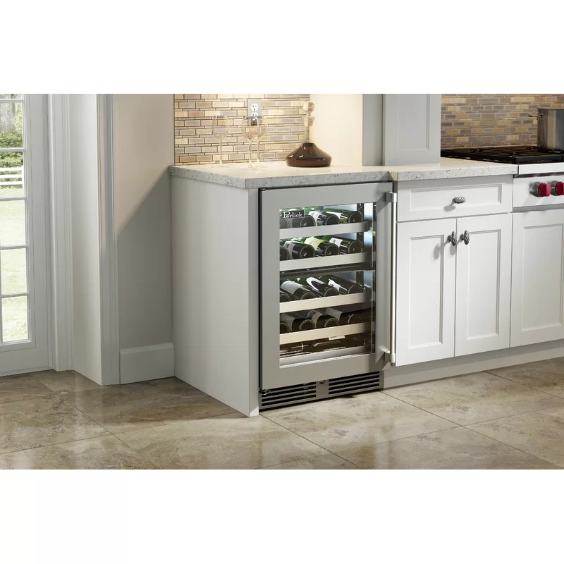 20 Bottle Signature Series Single Zone Built In Wine Refrigerator Built In Wine Refrigerator Beverage Refrigerator Wine Refrigerator Cabinet