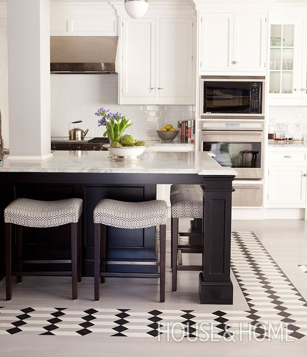 Messy Kitchen Design: Top 10 Gorgeous Graphic Floor Tile Ideas