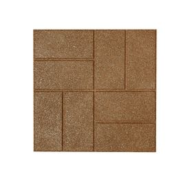 Rubberific 16in x 16in Tan Rubber Square Patio Lowes Item