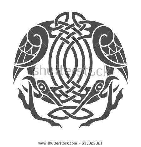 Ancient Celtic Mythological Symbol Of Eagle Vector Knot Ornament