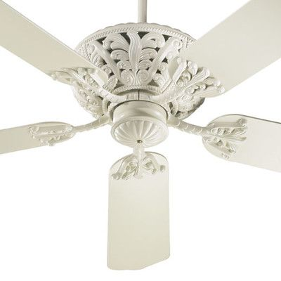 Astoria Grand 52 Mcferren 5 Blade Ceiling Fan Finish Antique White With Antique White Blades With Images Antique Ceiling Fans White Ceiling Fan Ceiling Fan With Light