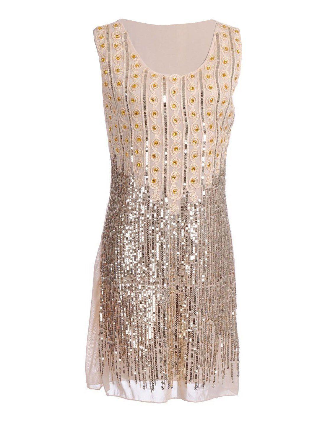 PrettyGuide1920s Gatsby Style Beads und Pailletten verziert ...
