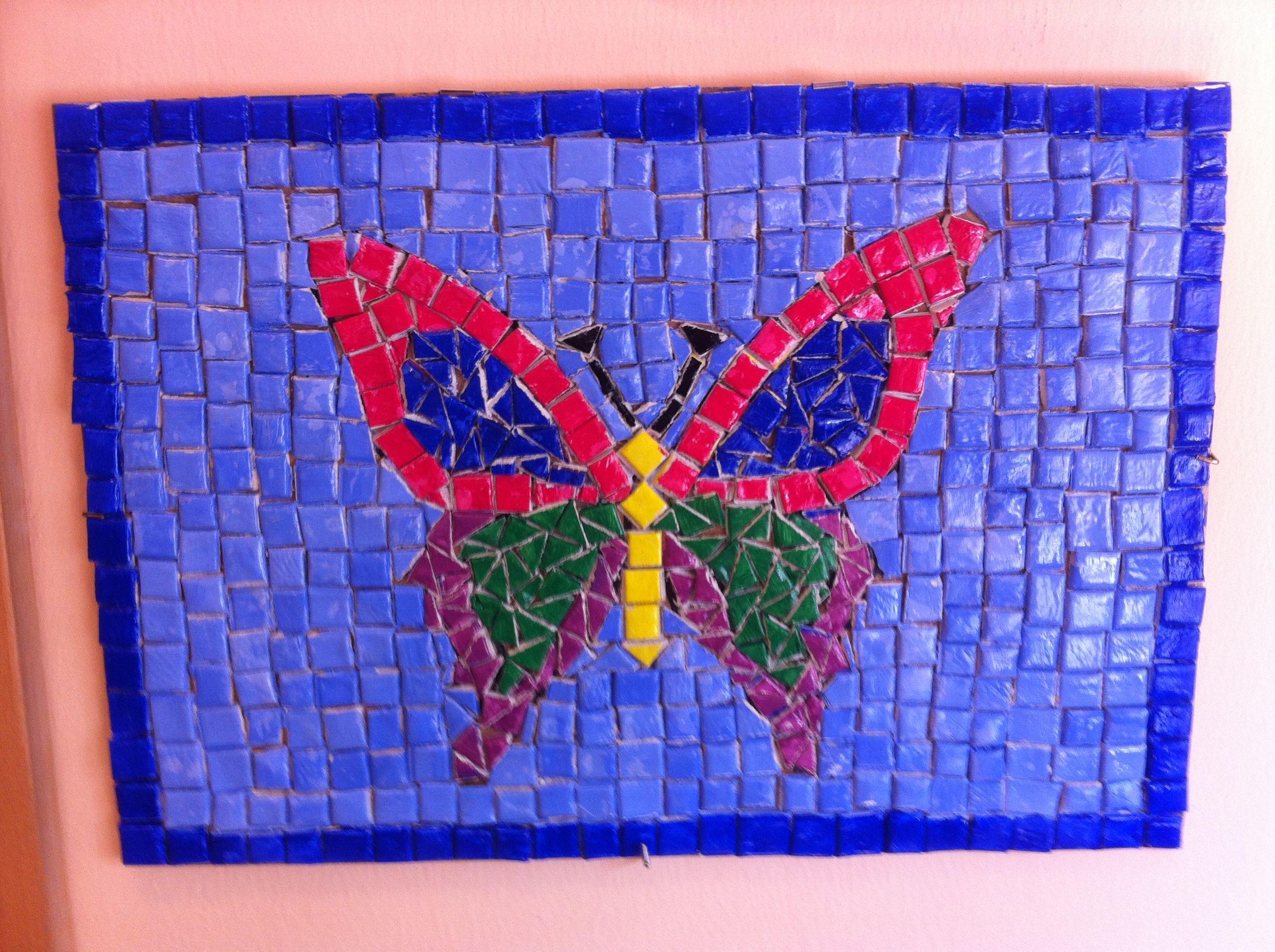 Mosaico con piastrelle di das mosaici pinterest