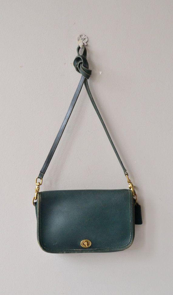 cebd9f4d1d12 Hunter Green Coach bag vintage Coach purse leather by DearGolden