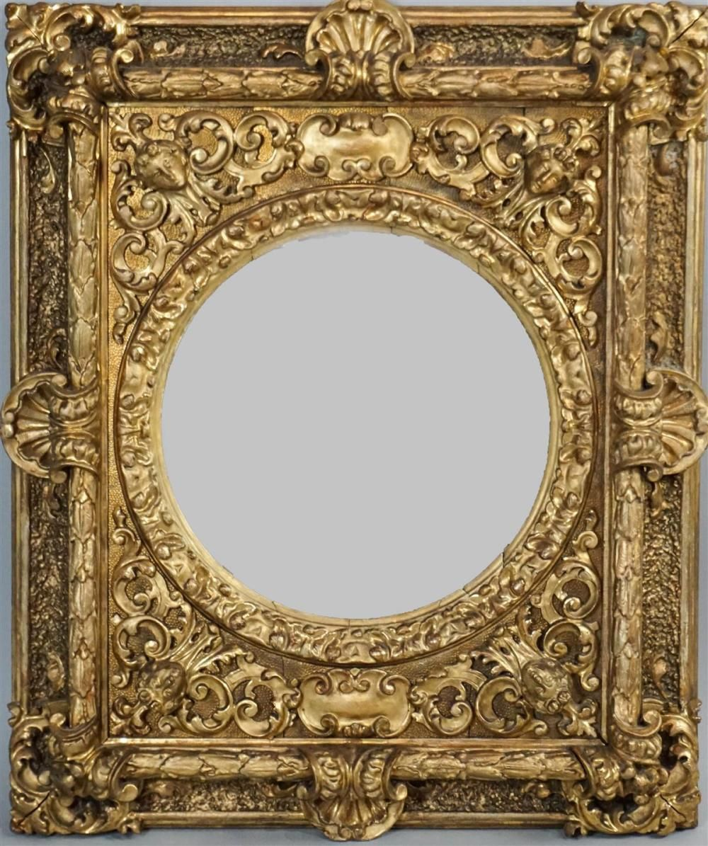 Dollhouse Gilded Metal Oval Victorian Style Picture Frame 1:12 Scale Miniatures
