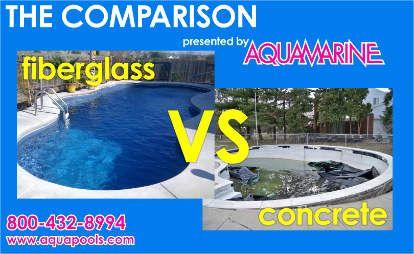 The Aqua Group Fibergl Pools Spas Versus Concrete From Aquamarine Serving Austin Dallas Houston And Surrounding Areas In Texas