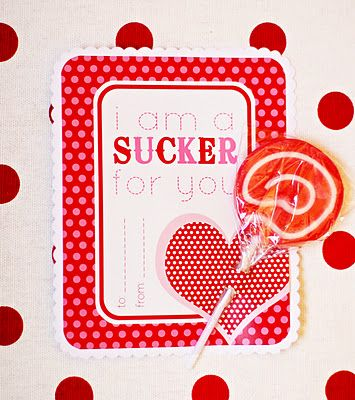 FREE Printable Valentine Sucker Card | Suckers, Free printable ...