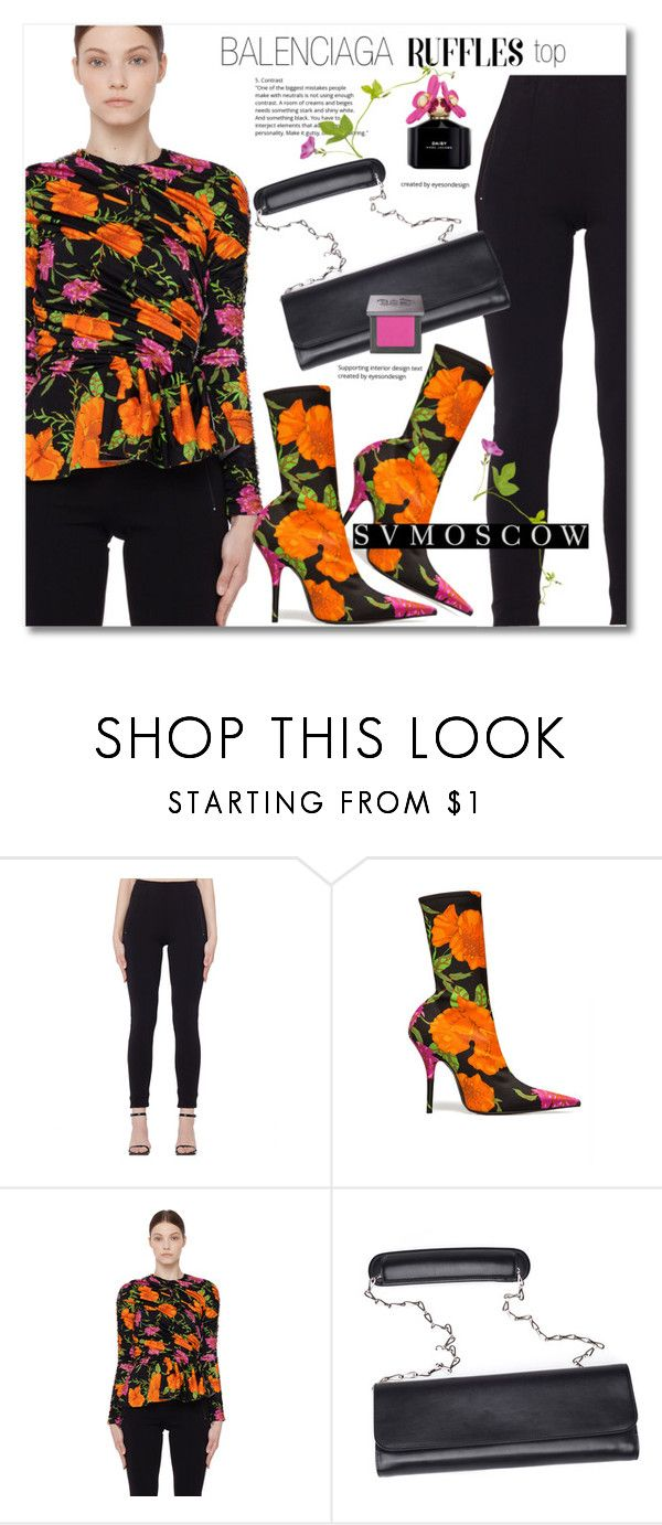 """""""Add Some Flair: Ruffled Tops"""" by svijetlana ❤ liked on Polyvore featuring Balenciaga, Marc Jacobs, Urban Decay, svmoscow and ruffledtops"""