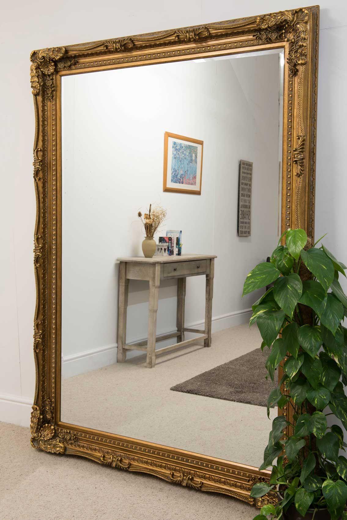 Charlton Gold Framed Mirror 154x215cm - Soraya Interiors UK | Extra ...