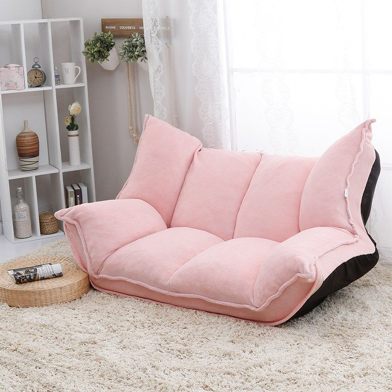 Adjustable Fabric Folding Chaise Lounge Sofa Chair Floor Couch Living Room Furniture Sofa Daybed Sleeper Le Lounge Sofa Floor Couch Living Room Furniture Sofas