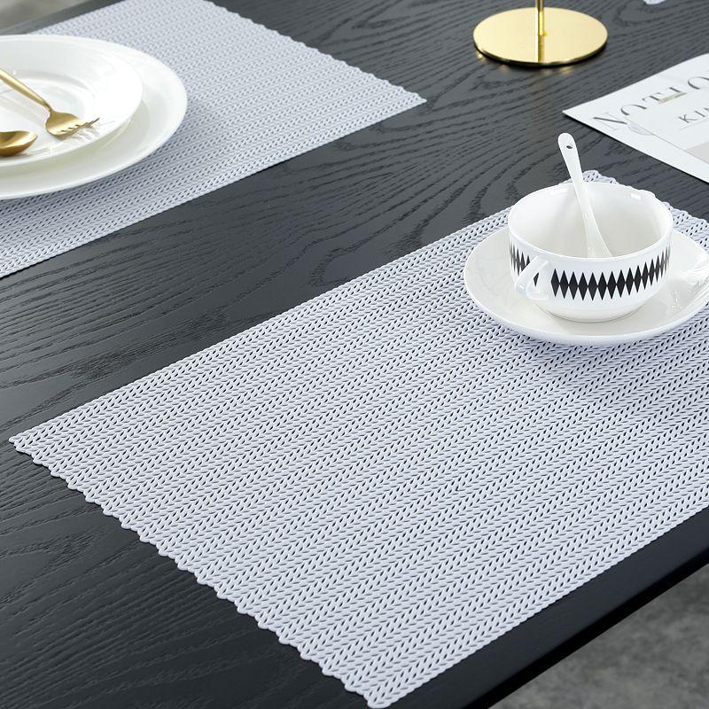 White Rectangle Plastic Placemats White Vinyl Table Mats Manufacturer Sale Placemats Cheap Vinyl White Placemats