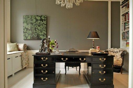 despacho en color gris decoracion de interiores