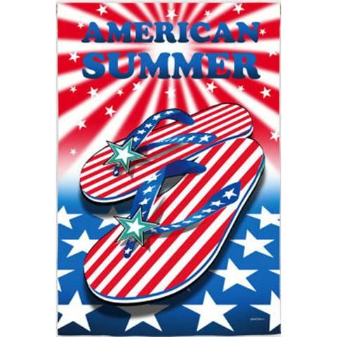 American Patriotic Summer Double Sided House Flag