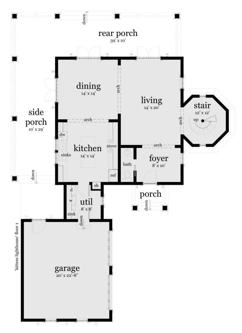 3 Bedroom House With Attached Lighthouse Tyree House Plans House Plans How To Plan Lighthouse