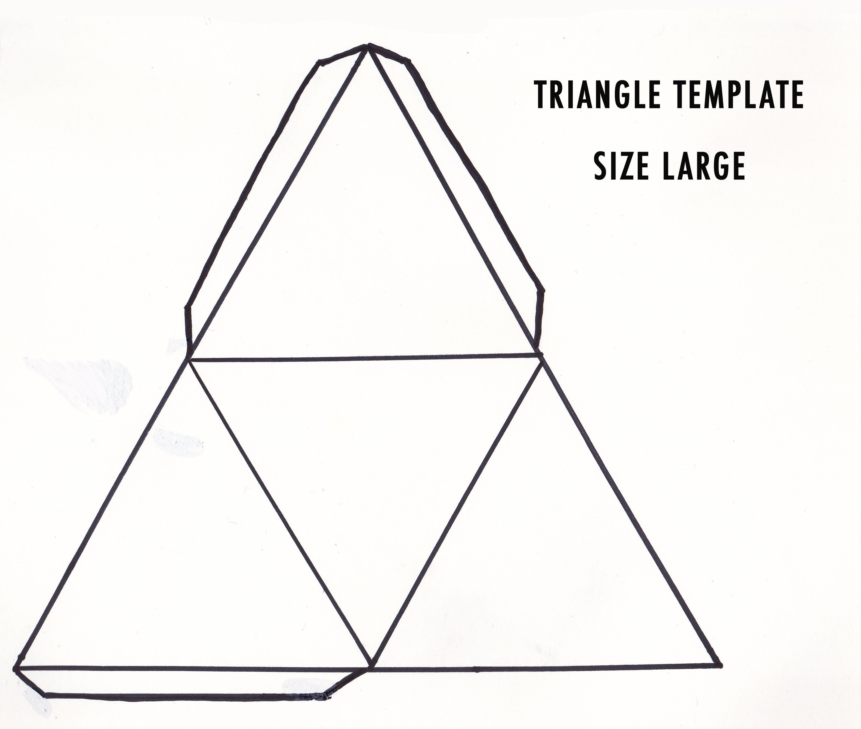 Triangle Template  Google Zoeken  Bags Boxes Favors