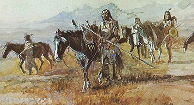 WESTERN ART POSTER The Lost Trail Charles M Russell