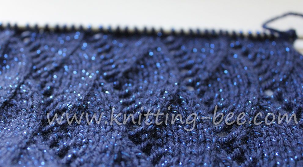 Vertical Waves Free Knitting Stitch
