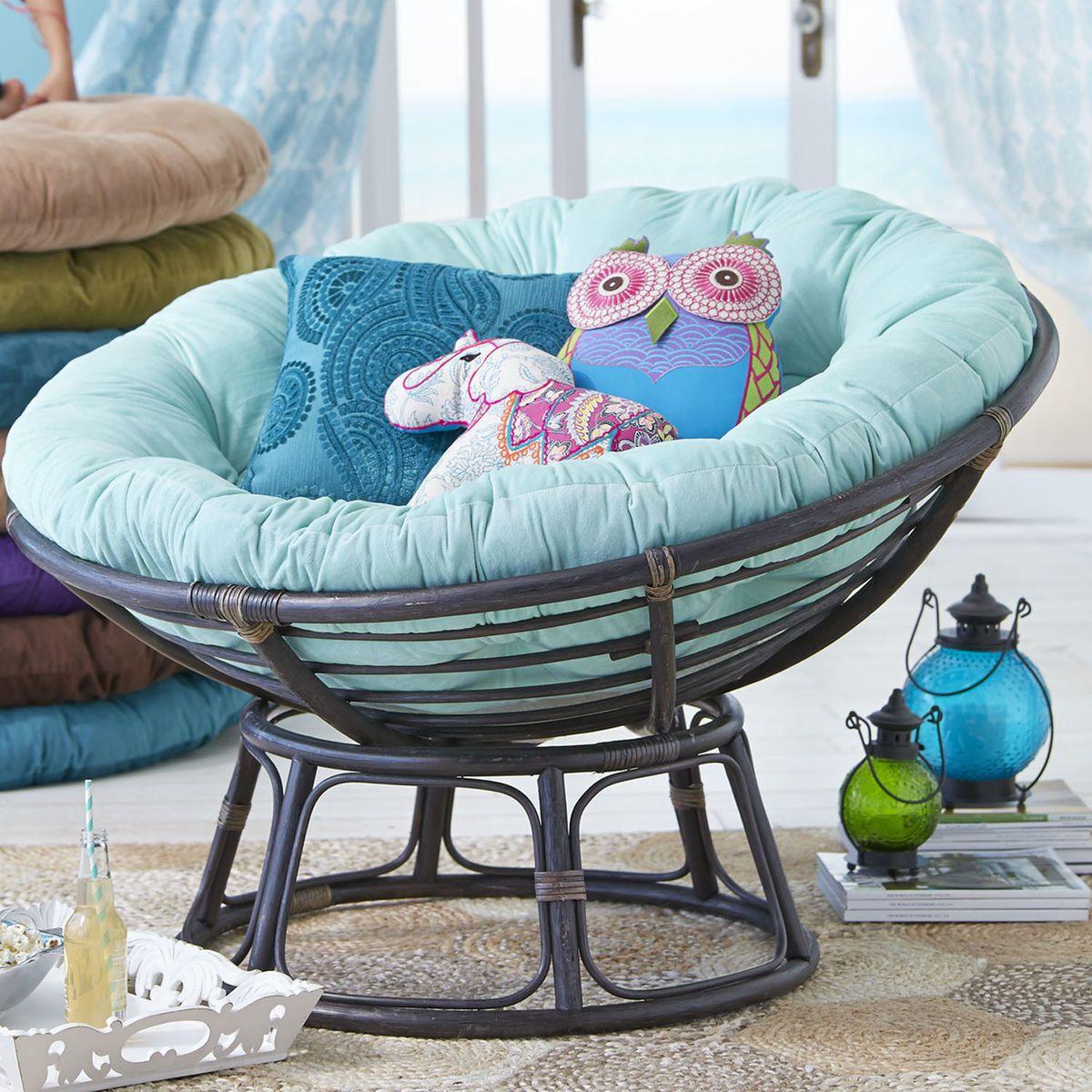 Papasan cushion plush mint green pier 1 imports no for Where to buy papasan chair