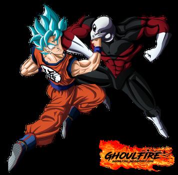 Goku Vs Jiren By Ghoulfire Goku Vs Jiren Dragon Ball Super Dragon Ball Super Art
