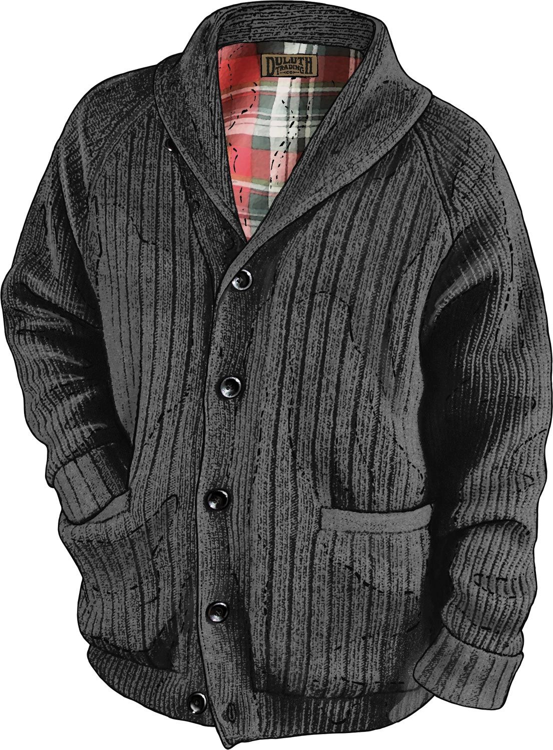The Men's Woolpaca Shawl Collar Cardigan at Duluth Trading Company is  incredibly beefy