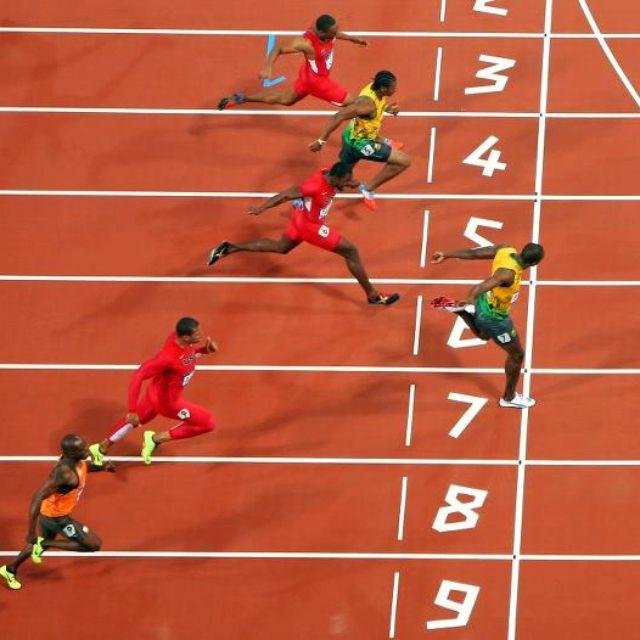 100m Finals Lightning Bolt strikes twice