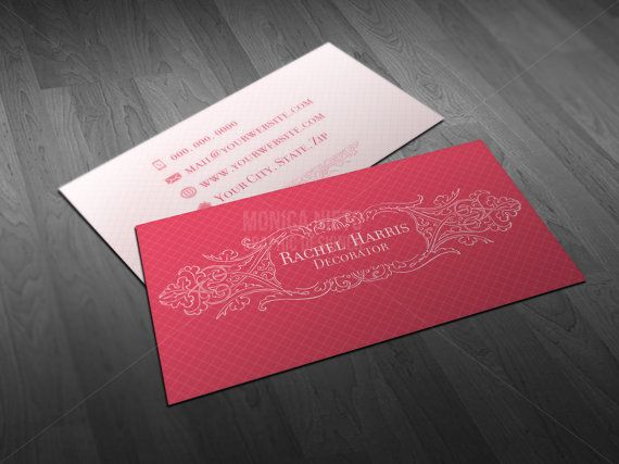 Interior decorator business cards party and events decorator premade printable business card design template reheart Gallery