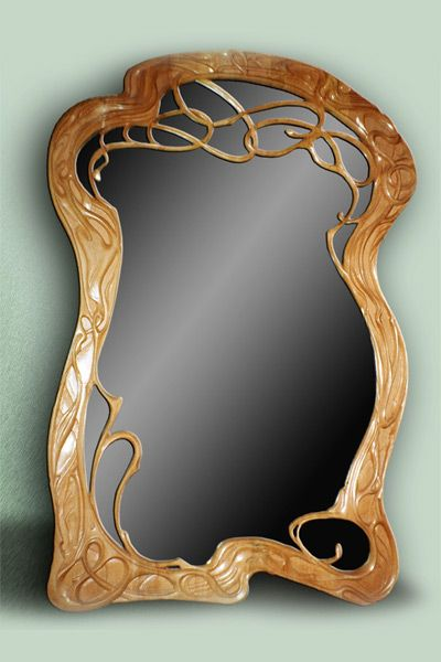 Yuri Moshans Mirror In Beech Wood Art Nouveau Miroir Art Deco Art Deco