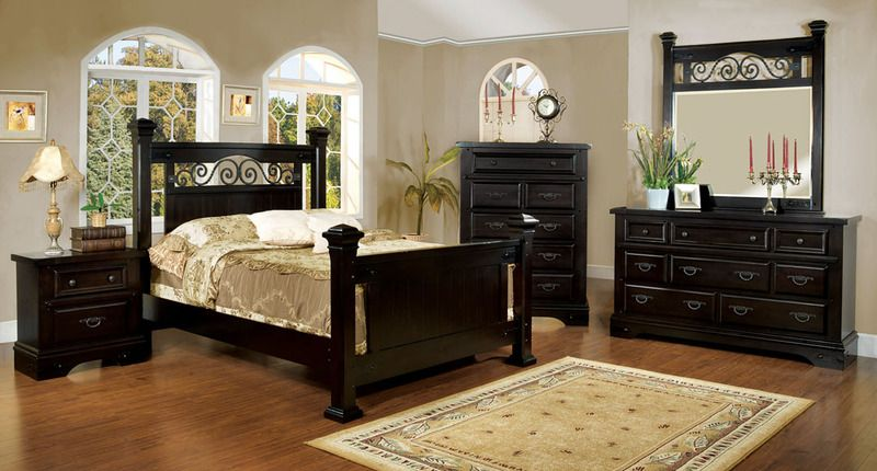 High Quality Off White Bedroom Furniture For Adults | CM7496EX Espresso Finish Adult  Bedroom Set