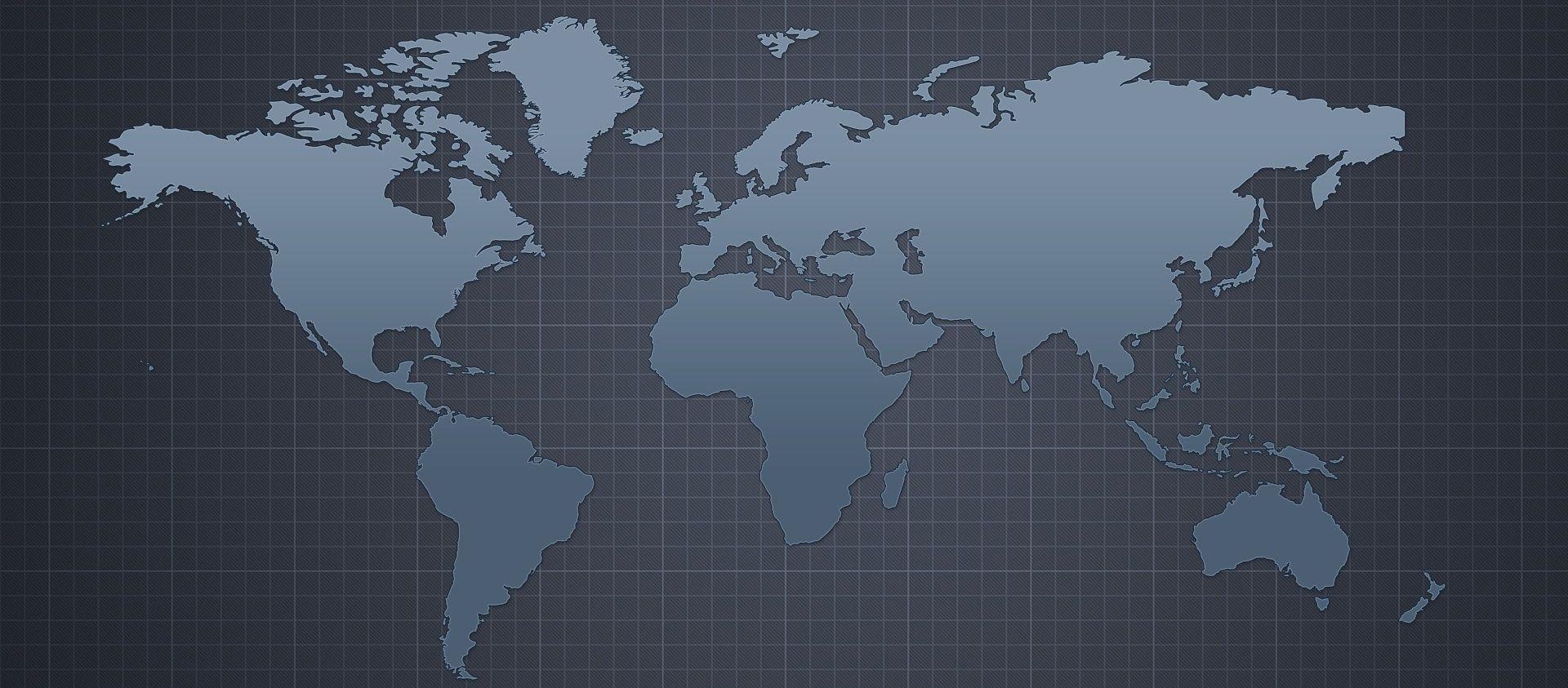 World map website design World map website