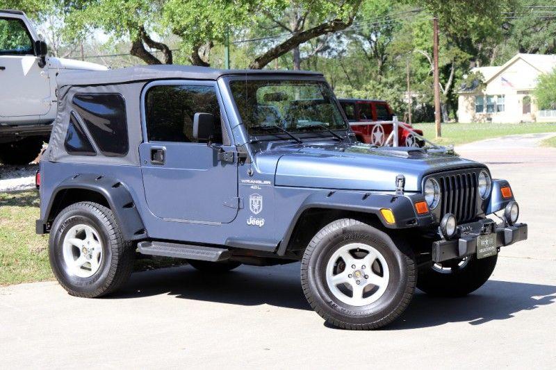 2001 Steel Blue Jeep Wrangler 13995 Blue Jeep Wrangler Jeep Wrangler Jeep