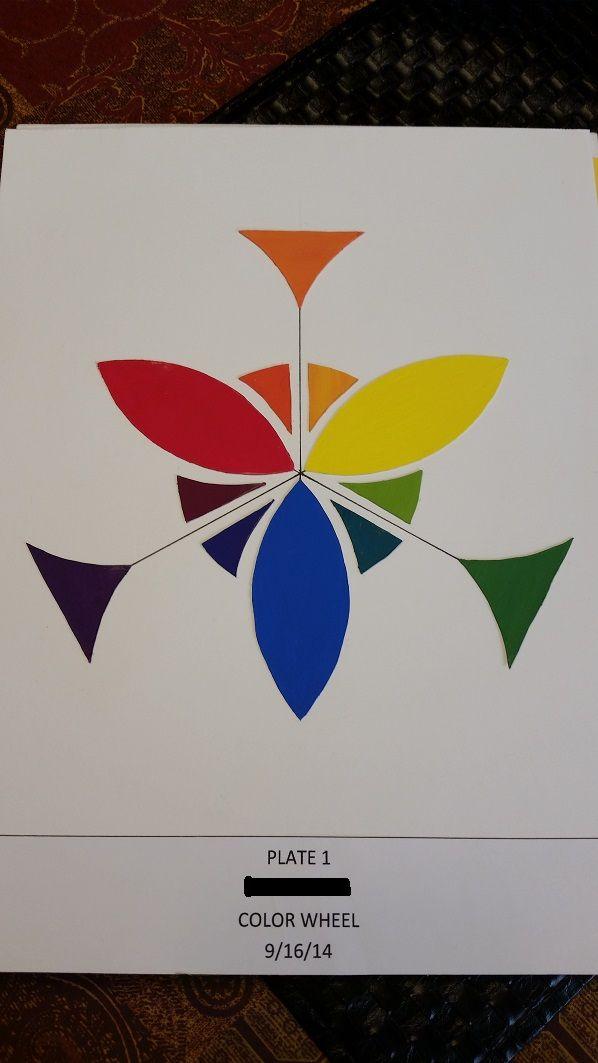Color wheel project-Interior Design School -Color & Design Class-Color  Theory