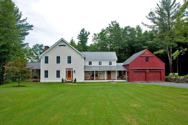 Love the barn garage and the addition ideas for my house for Red barn houses