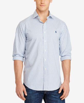 POLO RALPH LAUREN Polo Ralph Lauren Men'S Big &Amp; Tall Checked Poplin Shirt. #poloralphlauren #cloth #down shirts