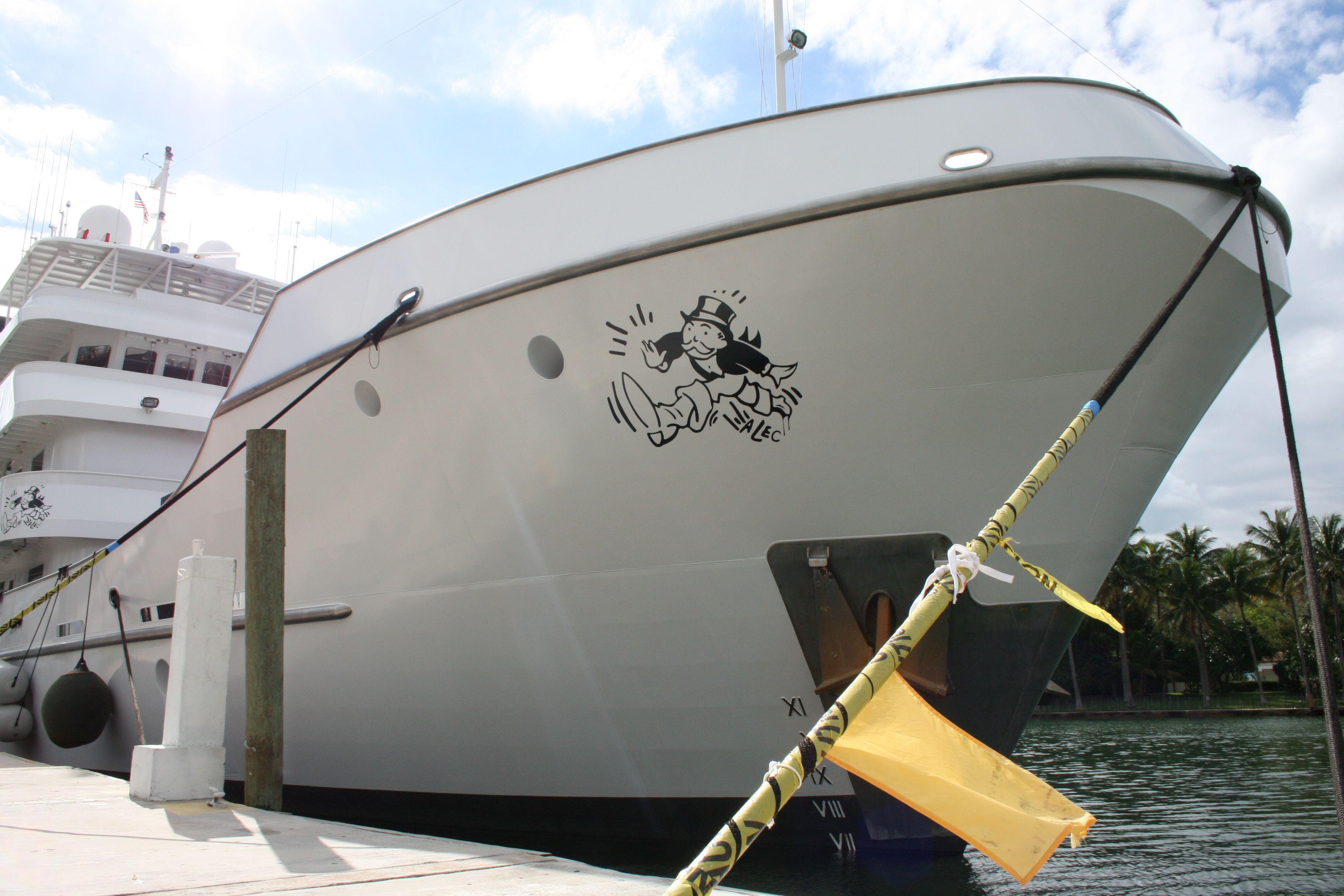 Artist Alec Art Basel Miami Custom Yacht Vinyl Graphics Car Wrap - Custom vinyl decals miami