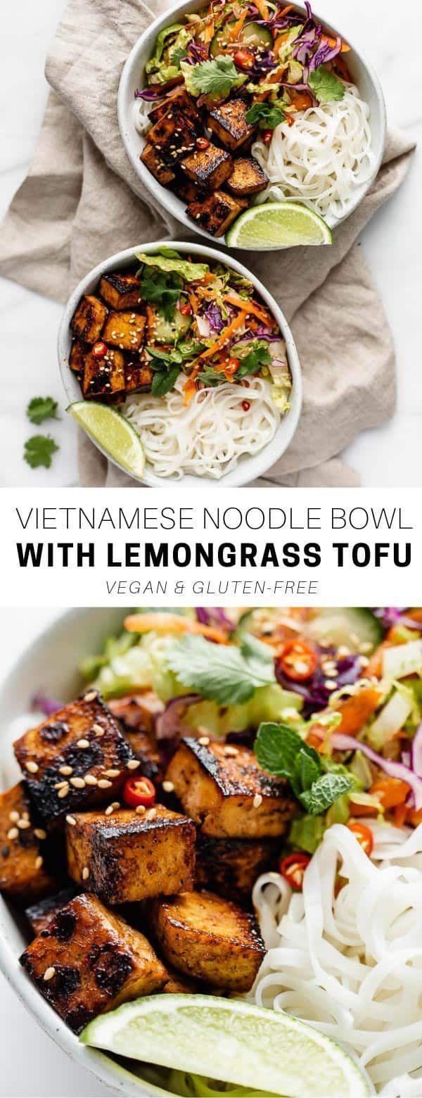 Vietnamese Noodle Bowls With Lemongrass Tofu