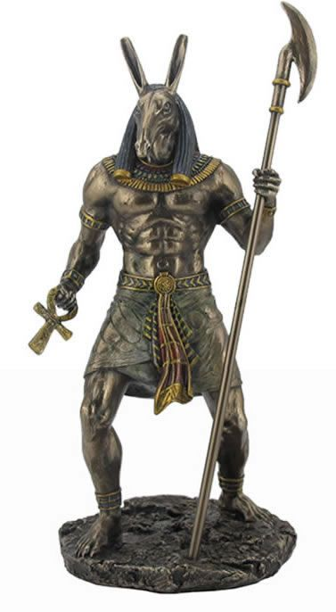 Anubis Holding Ankh And Was Scepter Statue In 2019