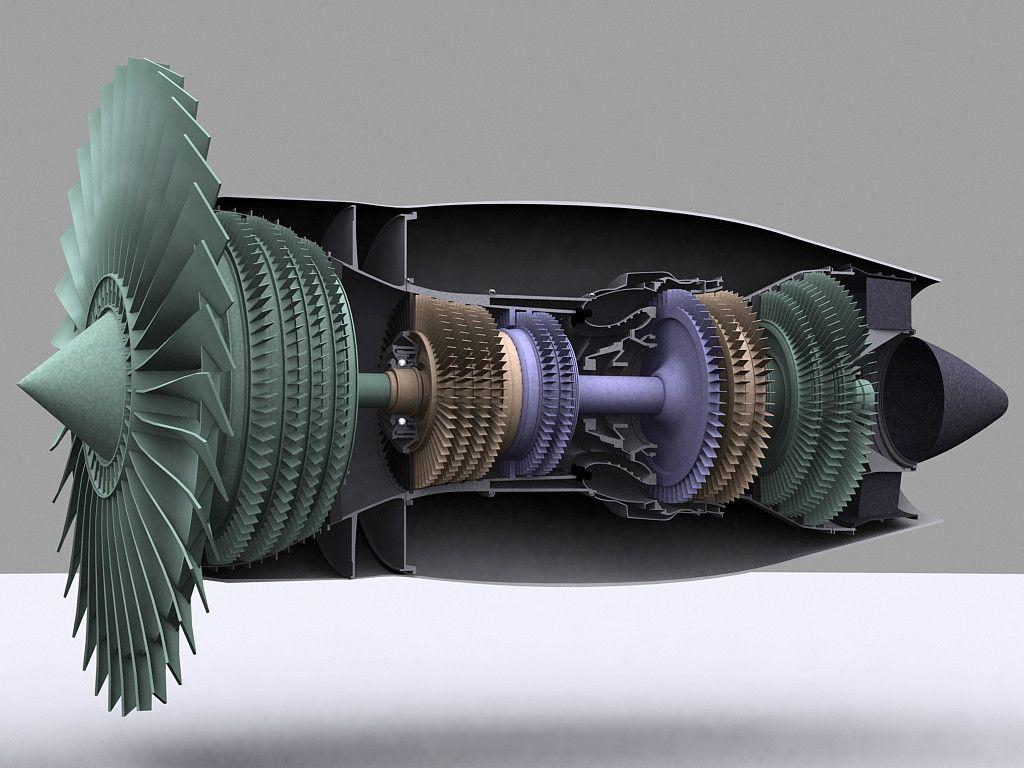 Turbofan Cutaway Google Search Aviation Pinterest Jet Engine Turbine Diagram Gas Mechanic Art
