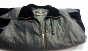 London Fog Women's Gray & Black Quilted Jacket with Thinsulate Sz Small Regular