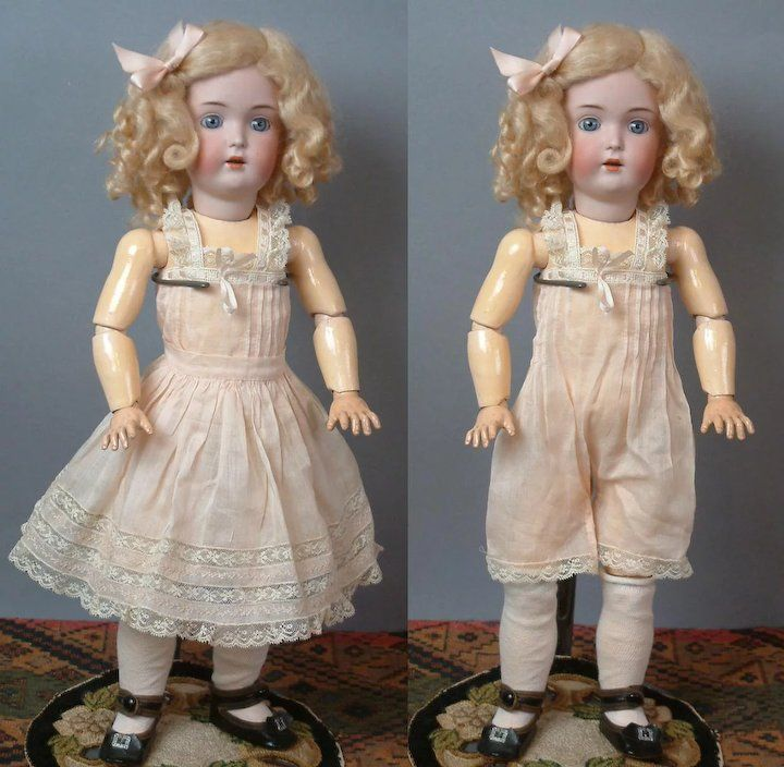 "18"" Kestner 171 Known As ""DAISY"" circa 1911 in Lovely Dress & Shoes #dollunderware"