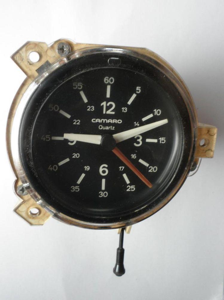 WORKING 1982-1992 Chevrolet Camaro Quartz Clock - 60 DAY GUARANTEE