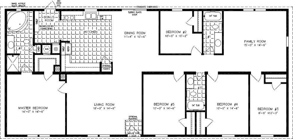 Floorplans For Manufactured Homes 2000 Square Feet Up Exterior - Floor Plans 2000 Square Feet