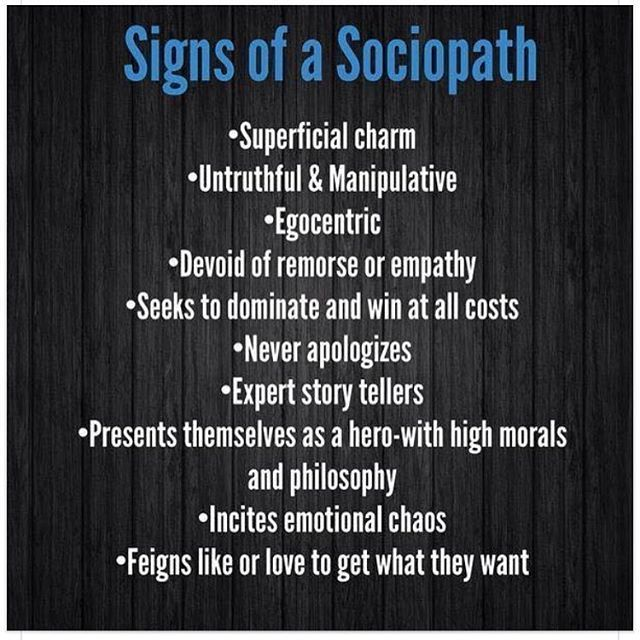 Signs of dating a sociopath