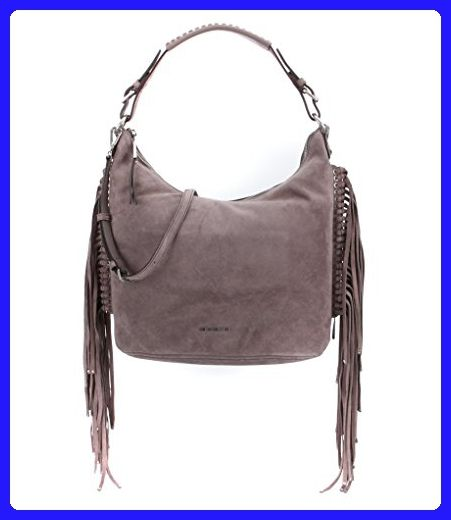 Michael Kors Billy Large Fringe Hobo Suede Leather Cinder Shoulder Bags Partner Link